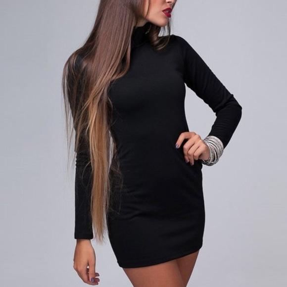 54f1bbba96 American Apparel Dresses   Skirts - Turtleneck Black Tight Sweater Dress